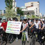 دوچرخه سواران آستارا به اعتیاد نه گفتند