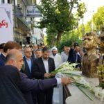 گلباران محل شهادت شهیدان انصاری و نورانی در رشت+تصاویر