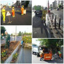 ادامه اجرای طرح پاکسازی هفتگی محلات شهر رشت