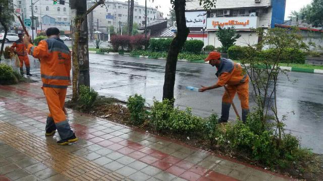 گزارش تصویری حوزه مدیریت خدمات شهری از هفته نوزدهم طرح پاکسازی هفتگی محلات شهر رشت