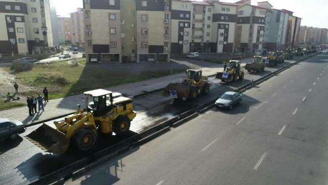 رژه خودرویی عملیات زمستانی شهرداری رشت انجام شد
