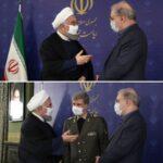 تصاویر | روحانی بالاخره ماسک زد