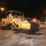 یک پروژه عمرانی شبانه در رشت انجام شد