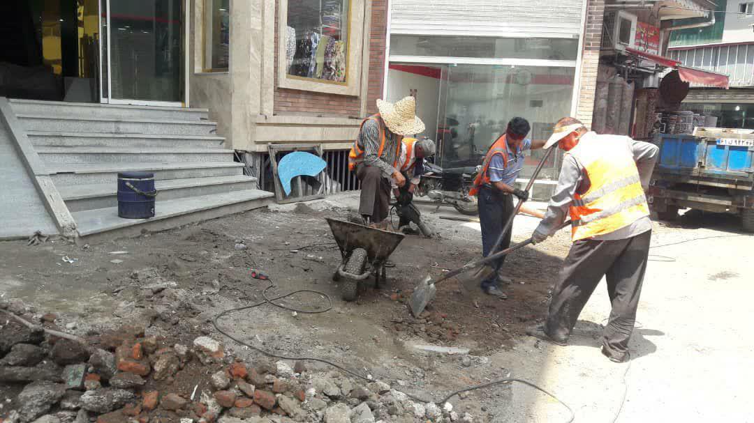 ادامه فعالیت های وسیع عمرانی منطقه دو شهرداری رشت در روزهای پایانی تیر ماه