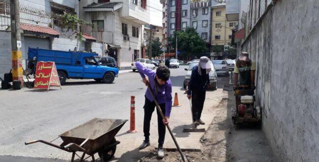تلاشهای گسترده مناطق پنجگانه شهرداری رشت برای اصلاح و مرمت آسفالت معابر