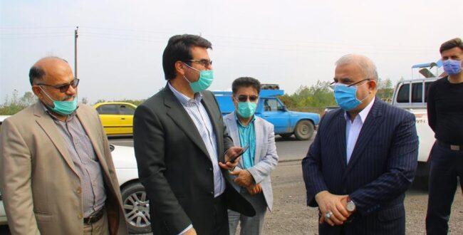بازدید سرپرست شهرداری رشت، رئیس شورای اسلامی رشت و جمعی از مدیران شهرداری از روند اجرای پروژه های عمرانی در سطح رشت