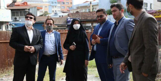 بازدید سرپرست شهرداری رشت از روند احداث پروژه یادمان دکتر حشمت