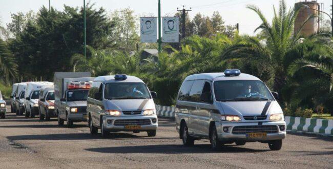 رژه ماشین آلات سازمان مدیریت آرامستان های شهرداری رشت برگزار شد
