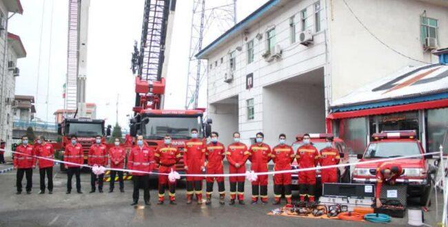 سه دستگاه خودروی آتشنشانی پیشرفته به ناوگان آتشنشانی رشت اضافه شد
