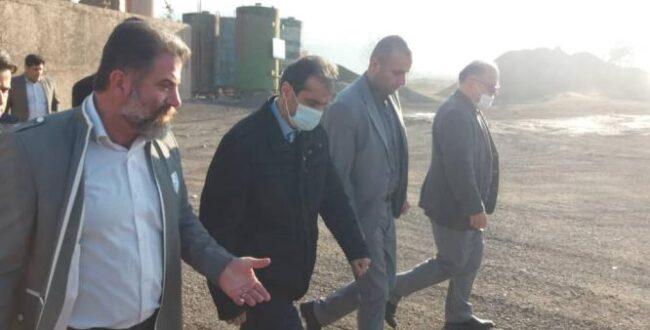 بازدید شهردار رشت از مجموعه کارخانه آسفالت