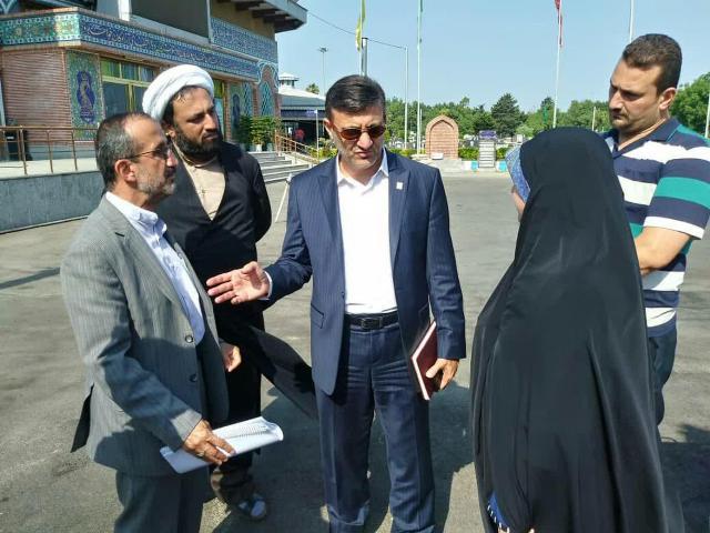 بازدید میدانی شهردار رشت از وضعیت گلزار شهدای وادی تازه آباد