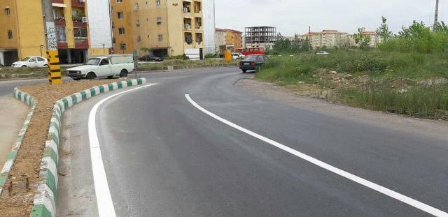 تغییر شیوه اجرای خط کشی طولی ترافیکی در شهر رشت