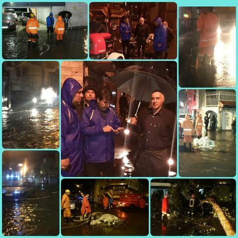 به دنبال بارش سیل آسای شب گذشته؛ شهرداری رشت برای رفع مشکل آبگرفتگی برخی مناطق شهر بسیج شد