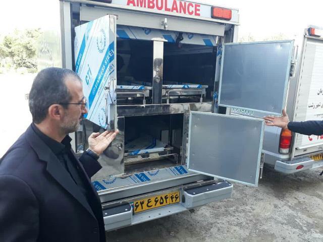 برای نخستین بار در گیلان؛ سه دستگاه آمبولانس دارای سردخانه سیار در رشت به کارگیری شد