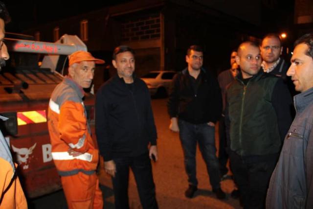گزارش تصویری بازدید شهردار رشت از اجرای عملیات آسفالت شبانه مسیر میدان فرهنگ تا میدان مصلی