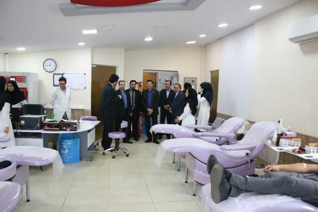 شهردار رشت از سازمان انتقال خون استان گیلان بازدید کرد