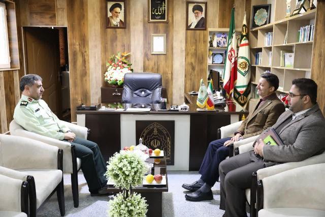 دیدار شهردار رشت با فرمانده نیروی انتظامی گیلان