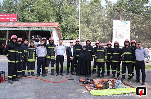 بازدید شهردار و عضو شورای اسلامی شهر از ایستگاه ۴ آتش نشانی /آتش نشانی رشت