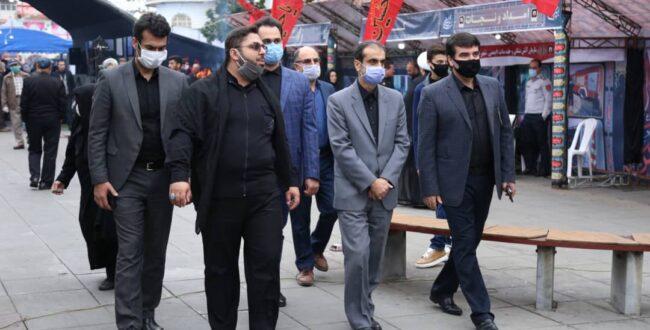 بازدید شهردار منتخب و سرپرست شهرداری رشت از موکب خدام العتره شهرداری رشت
