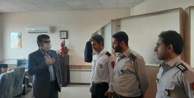 بازدید سرزده سرپرست شهرداری رشت از ایستگاه آتش نشانی شماره ۱۳