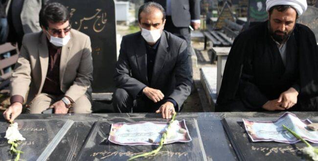 ادای احترام شهردار رشت به مقام شامخ مادران متوفی شهدا به مناسبت وفات حضرت ام البنین (س)